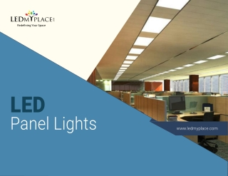Know Why  LED Panel Lights Are Best For Office Premises?