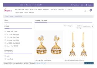 Buy Jhumki Earrings online