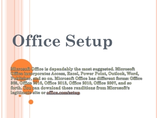 Office.com/setup - Install Office Antivirus for Activation