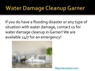 Water Damage Cleanup Garner