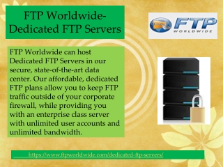FTP Worldwide-Dedicated FTP Servers