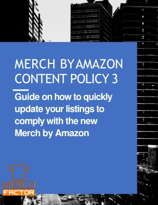 Merch By Amazon Content Policy 3 3 Automate your listing updates