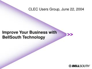 Improve Your Business with BellSouth Technology