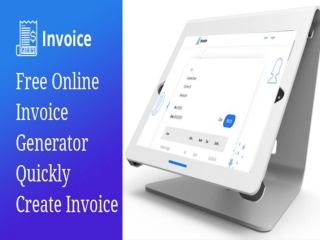 Free Online Invoice Generator - Quickly Create Invoice
