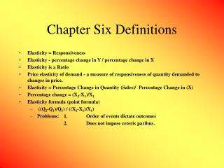 Chapter Six Definitions