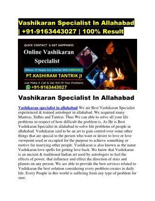 vashikaran specialist in allahabad
