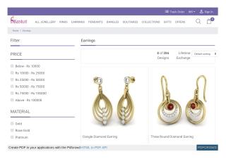 Earrings Designs Online India