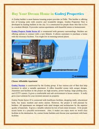 Buy Your Dream Home in Godrej Properties