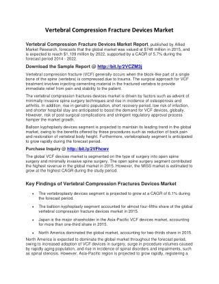 Vertebral Compression Fracture Devices Market