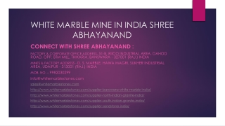 White Marble Mine in India Shree Abhayanand