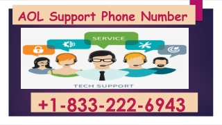 AOL Support Phone Number 1-833-222-6943,To Fix Installation and Update Related Problems