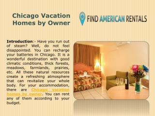 Chicago Vacation Homes by Owner