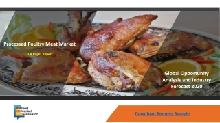 Processed Poultry Meat Market Growing Demand Over During Forecast Period