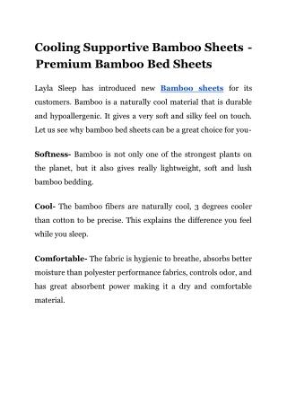 Layla Sleep | Comfortable Bamboo Bedding