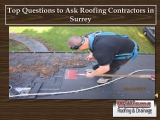Top Questions to Ask Roofing Contractors in Surrey