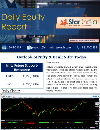 Outlook Of Nifty And Bank nifty