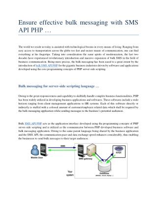 Bulk SMS API PHP