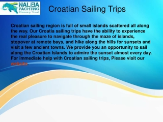 Best Croatian Sailing Trips