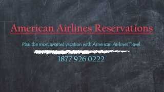Plan the most awaited vacation with American Airlines Travel