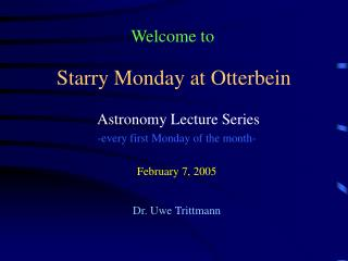 Starry Monday at Otterbein