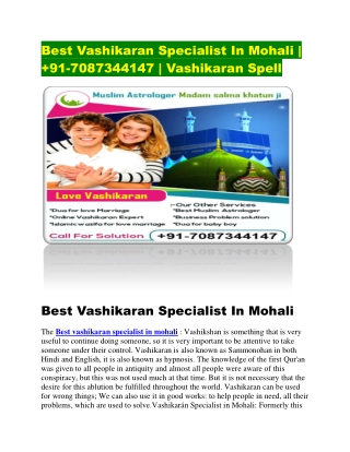best vashikaran specialist in mohali