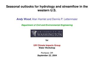 Seasonal outlooks for hydrology and streamflow in the western U.S.