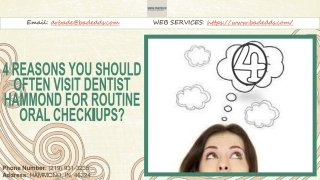4 Reasons You Should Often Visit Dentist Hammond for Routine Oral Check-Ups