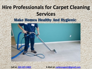 Hire Professionals for Carpet Cleaning Services