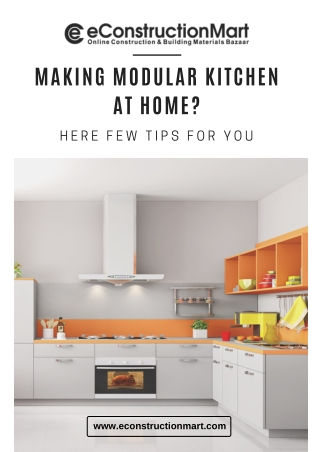 Making Modular Kitchen at Home? Here Few Tips For You