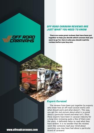 Off Road Caravan Reviews – Off Road Caravans