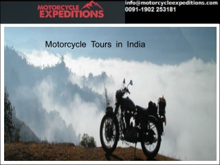 Motorcycle Tours in India