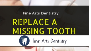 Replacing a Missing Tooth With Dental Implants