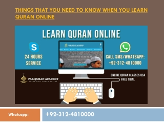 Need To Know When You Learn Quran Online