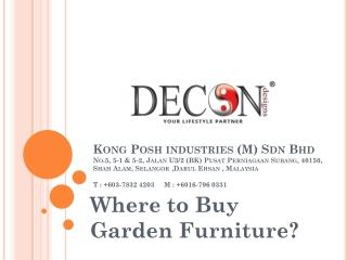 Where to Buy Garden Furniture?
