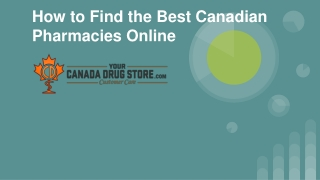 How to Find the Best Canadian Pharmacies Online