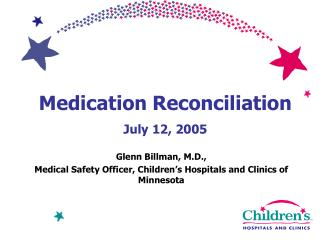 Medication Reconciliation  July 12, 2005