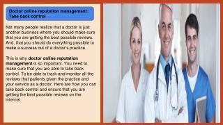 Healthcare online reputation management - patientTrak