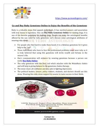 Buy Ruby Online