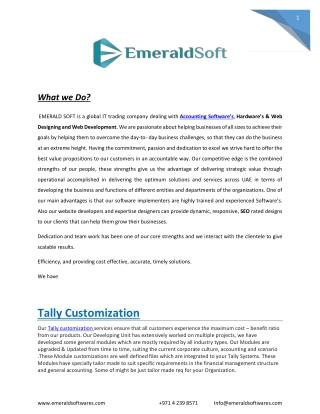 Tally customization | Tally ERP 9 Customization
