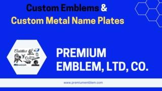 Slide about Custom Metal Name Plates