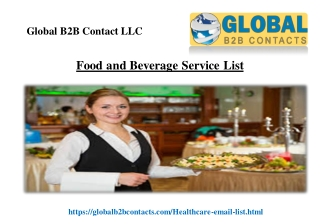 Food and Beverage Service List