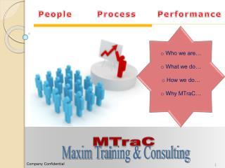 People       Process      Performance