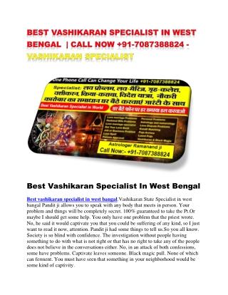 best vashikaran specialist in west bengal