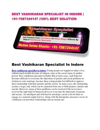 best vashikaran specialist in indore