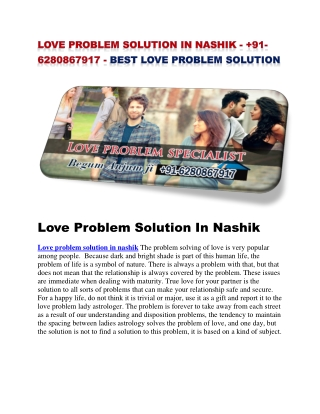 love problem solution in nashik