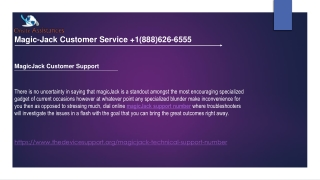 MagicJack Customer Service | 1(888)626-6555 Magicjack support number