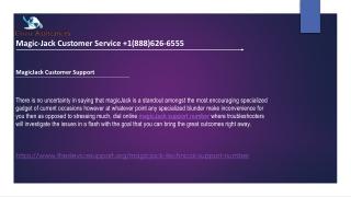 Magicjack support number  1(888)626-6555 Magicjack customer service