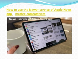 How to use the News service of Apple News app