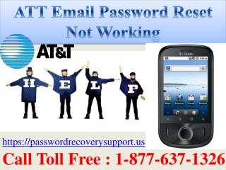 ATT Email Password Reset Not Working