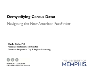 Demystifying Census Data: Navigating the New American FactFinder